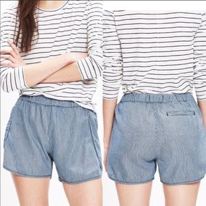✨HP✨Madewell Railroad Stripped Pull On Shorts Sz S
